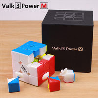 Qiyi Mofangge Valk3 Power M Magnet 3x3 Magic Speed Cube Stickerless Puzzle Valk 3 Magnetic Professional