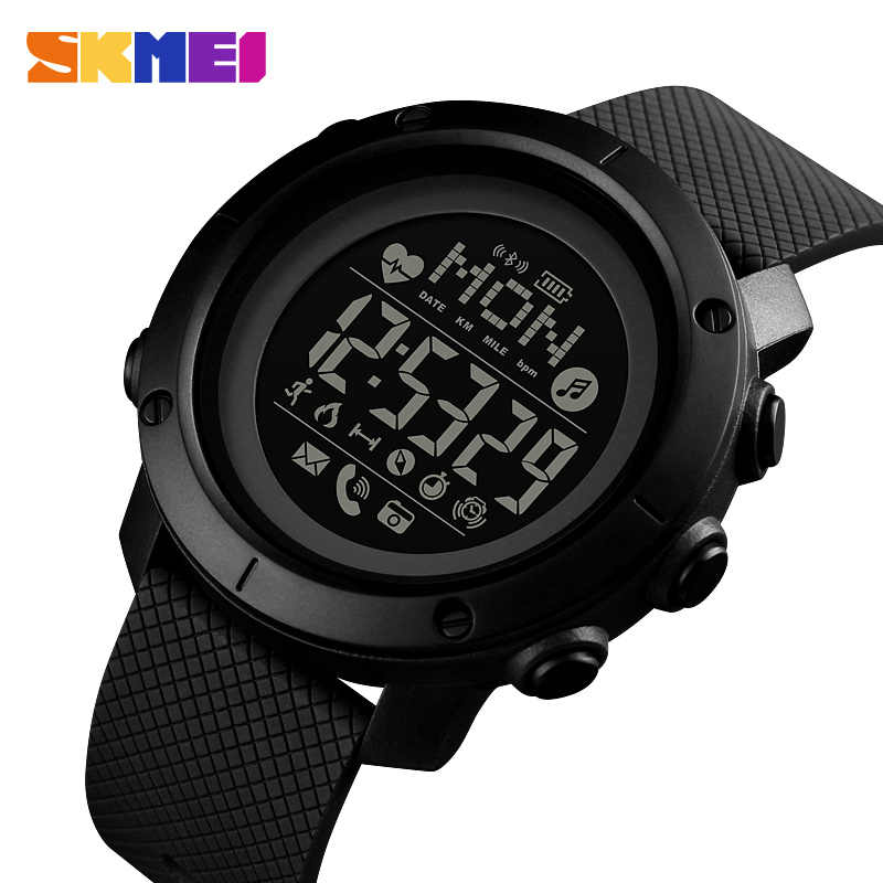 SKMEI Fashion Smart Watch Sport Men Watch Life Waterproof Bluetooth Magnetic Chargeing Electronic Compass reloj inteligent 1512