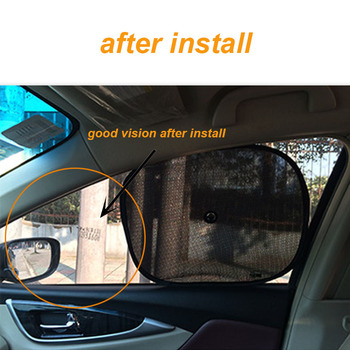 car window sunshade 2x Black Kids Baby Children Car Window UV Protection Blind Mesh Sun Shades image