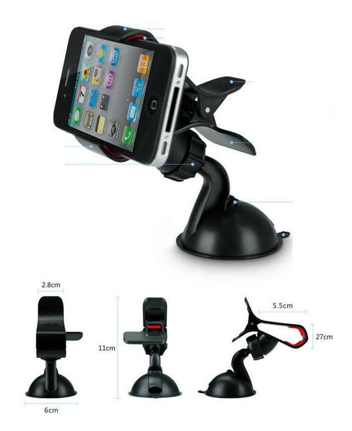 שמשה קדמית אוניברסלית הכבידה פרייר רכב נייד טלפון מחזיק 360 מעלות מתכוונן נייד רכב לוח מחוונים הר מחזיק מעמד