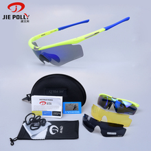 Jiepolly Cycling Eyewear Polarized Sunglasses MTB Bicycle Sunglasses Goggles Tr90 Frame Outdoor Sports Goggles Men Women Glasses