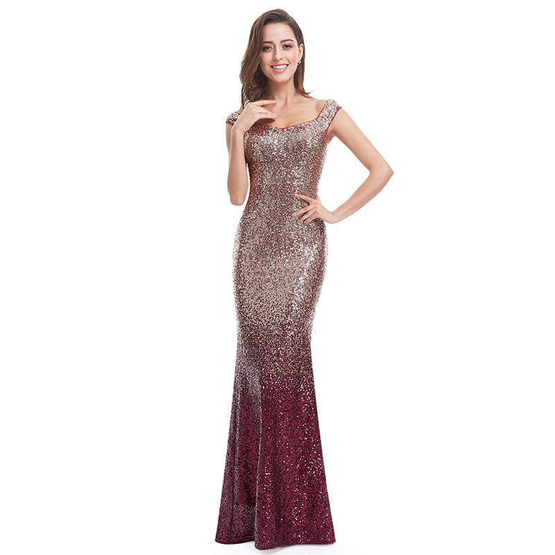 Women`s Elegant Prom Dresses Long Sparkle 2018 Autumn New V Neck Sequined  Mermaid Maxi Formal Party Gowns Ladies Abendkleider-in Prom Dresses from  Weddings ... 0dfca3816
