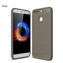 Brushed Texture Silicone Fundas Sợi Carbon Non-Slip Rubber Back Cover Case Cho Honor 8 V8 9 V9 lite lưu ý 5c v9play note 8 5x(China)