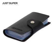 Promotion Black PU Leather Card Case Business Card Holder font b Men b font Women Credit