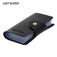 Promotion Black PU Leather Card Case Business Card Holder Men&Women Credit Card Bag ID Card Wallet With American&European Style