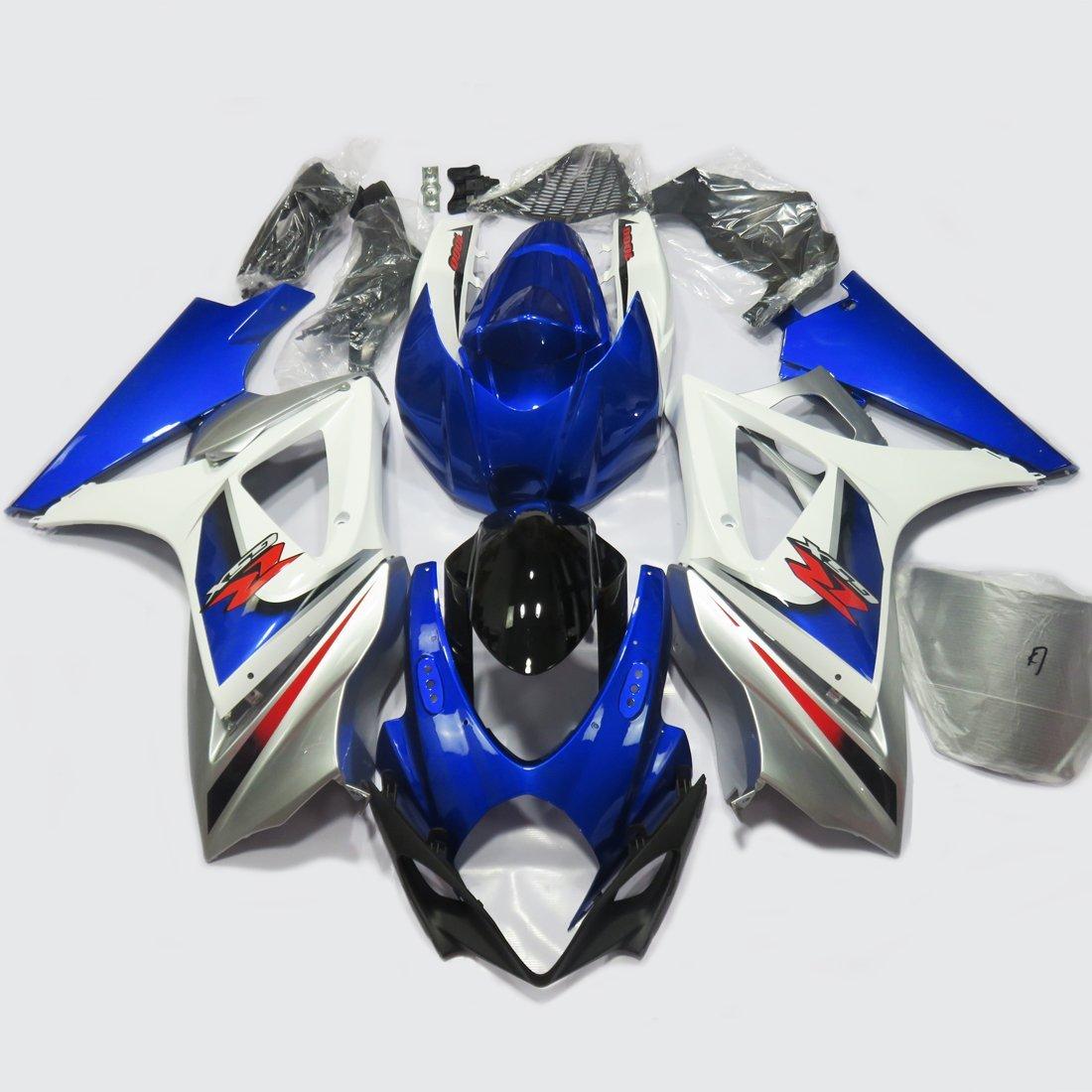 Full Fairing Set Kit For Suzuki K7 GSXR 1000 GSXR1000 2007 2008 GSX-R1000 K7 07 08 Injection Molding Fairings UV Blue Painted
