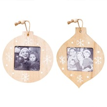 Christmas Decorations DIY Wooden Photo Frame Pendant Ree Ornaments For Home navidad