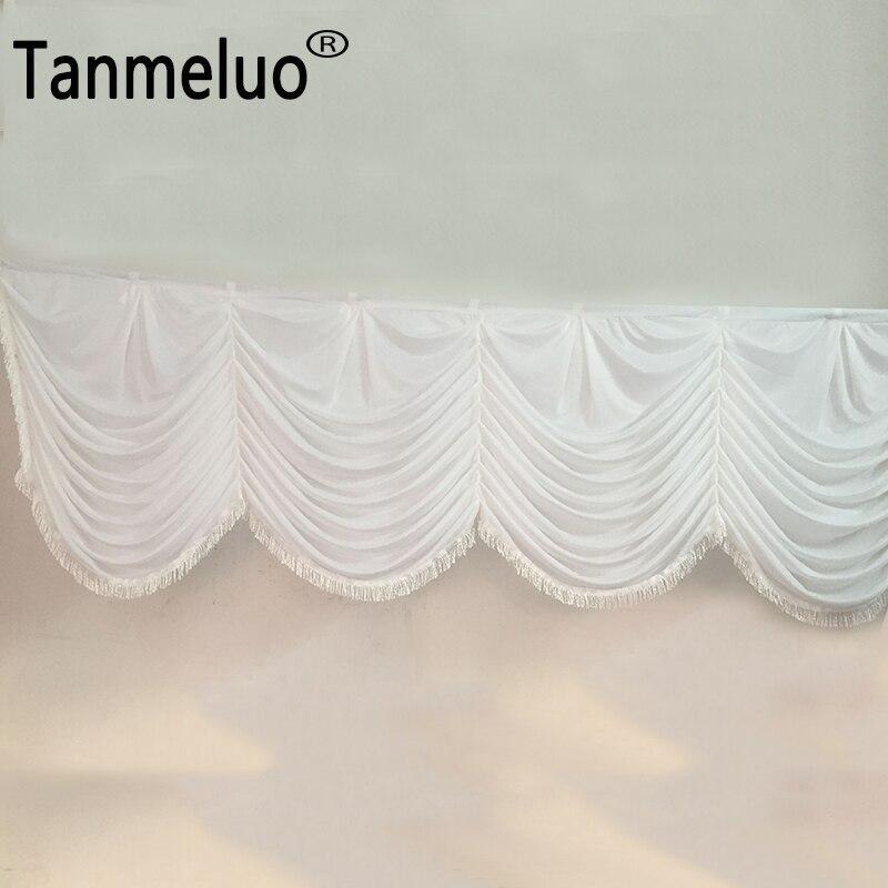 √Blanco desmontable Swag de seda de hielo para la boda cortinas