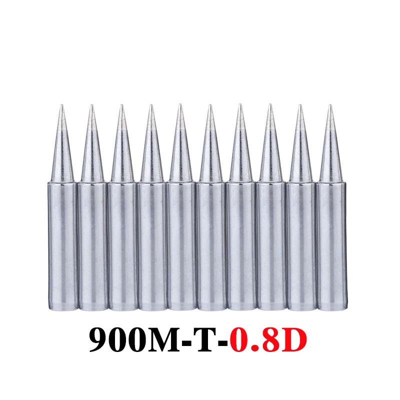 10Pcs/lot <font><b>900M</b></font>-<font><b>T</b></font>-<font><b>0.8D</b></font> Soldering Tip Lead-free Welding Sting Soldering Iron Tip for 936 BGA Soldering Station Tools image