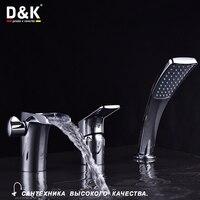 D и K смесители для душа однорычажный смеситель для ванны в хром латунь керамический картридж современный смеситель для ванны и душа на бортик ванны врезной горизонтальный смесители на борт ванны сантехника da1394901