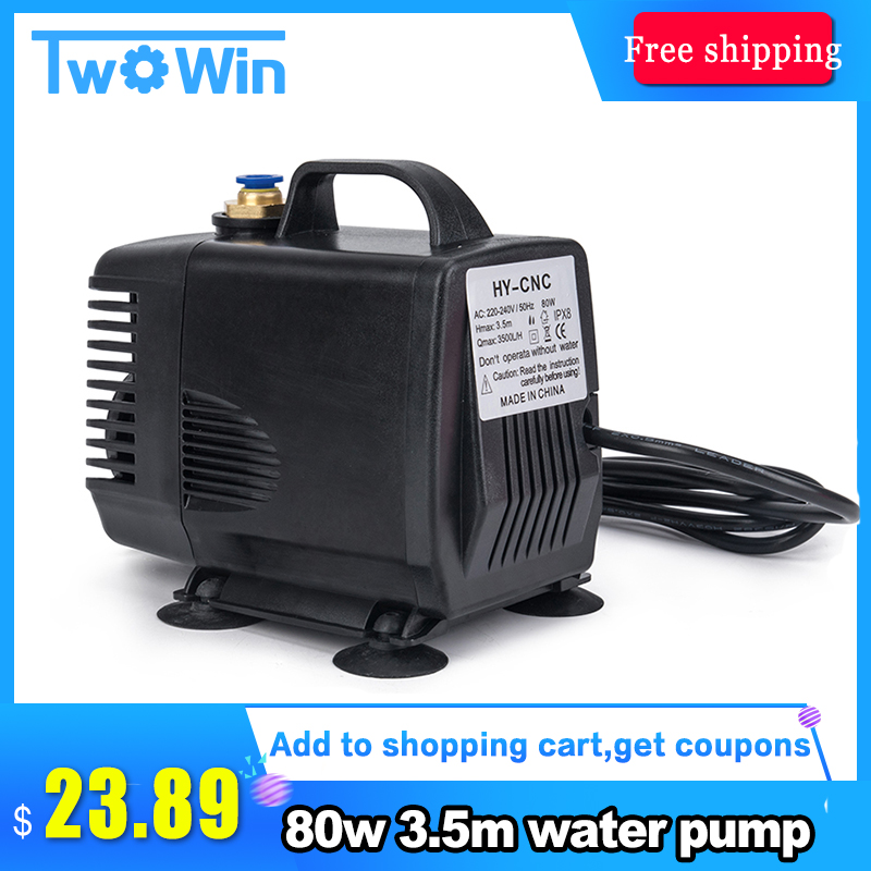 Romantic 1pcs 80w 3.5m Water Pump Engraving Machine Tool Cooling For Cnc Router 2.2kw Spindle Motor And 1.5kw Spindle Motor