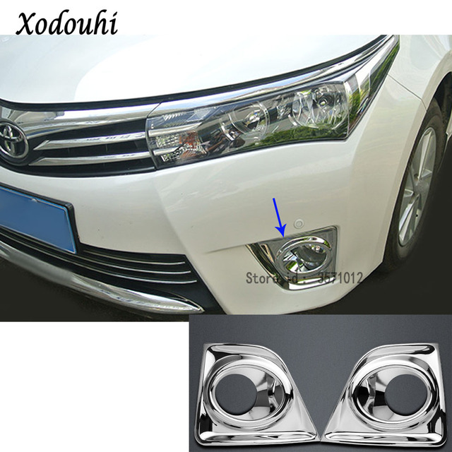 For Toyota Corolla Altis 2017 2016 Car Body Head Front Fog Light Lamp Frame Stick