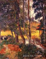 Paintings by Paul Gauguin Cattle Drinking Aka Edge Of The Pond Hand painted oil painting canvas High quality