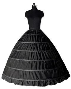 Image 3 - Biały 6 Hoops halki dla suknia ślubna krynolina podkoszulek tanie ceny akcesoria ślubne dla Brial suknia balowa