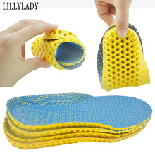 Stretch Breathable Deodorant Running Cushion Insoles For Feet  Man Women Shoes Sole Orthopedic Pad Memory Foam
