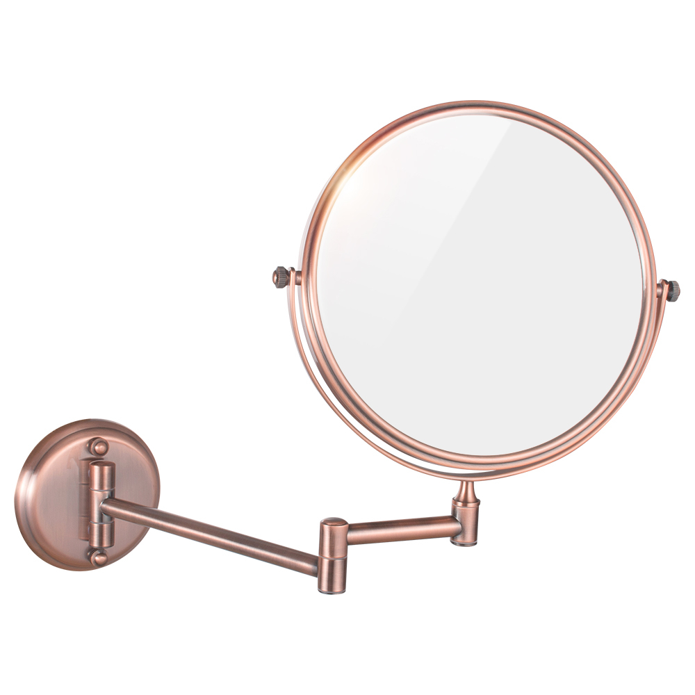 Gurun 8 Inch 10X Magnification Makeup Mirror Extend Wall Mount Two Sides Bathroom Cosmetic Shaving Mirror with 7X Magnifying 5X new fashion 6 inches led bathroom mirror dual arm extend 2 face metal makeup mirror 5x magnifying wall mounted extending folding