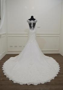 Image 3 - Vestido De Novia 2020 인어 웨딩 드레스 보트 넥 반팔 신부 드레스 가운 mariee 섹시한 레이스 웨딩 드레스