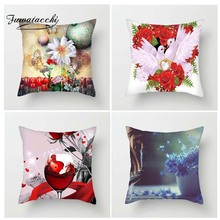Fuwatacchi Multi Color Floral Printed Cushion Cover Yellow Red BlueFlower Pillow Cover Decorative Pillowcase for Home Sofa цены
