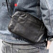 AETOO мужские кожаные сумки ручной работы на одно плечо косой крест ручной переноски Baotou слой коровьей кожи Повседневная кожаная сумка