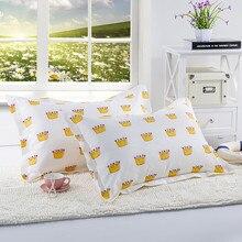 1PC Crown Grid Stripes Pillowcase Pillow Cover 48*74CM Polyester Geometry Home Beddroom Pillowcase Bedding Set Cap slogan print pillowcase cover 1pc