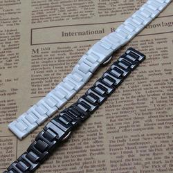 Белый Керамика Ремешки для наручных часов Ширина 14 мм 16 мм 18 мм 20 мм 22 мм ремешок Новая мода часы ремешок для женские Керамика смотреть starp
