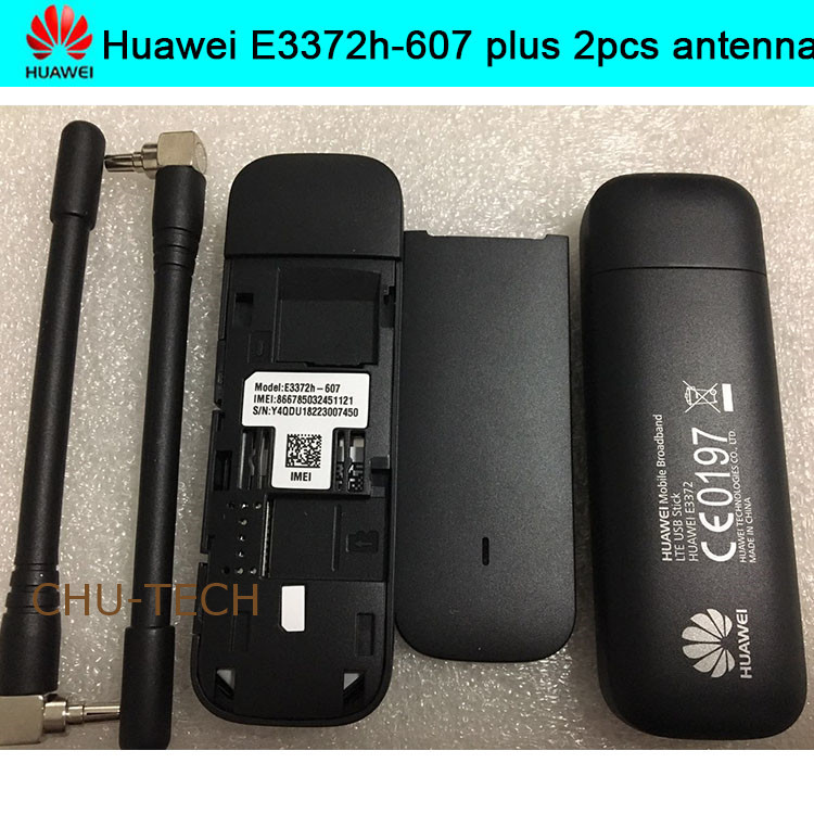 Unlocked New Huawei E3372 E3372h-607 ( Add A Pair Of Antenna ) 4G LTE 150Mbps USB Modem 4G LTE USB Dongle