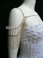 FASHION WOMEN SINGLE GOLD OR SILVER COLOUR BODY CHAINS SHOULDER CHAIN JEWELRY