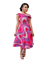 African Dresses African Dresses For Women Clothing Hot Sale Polyester Africa Bazin Riche New Fashion Style Printing Clothes