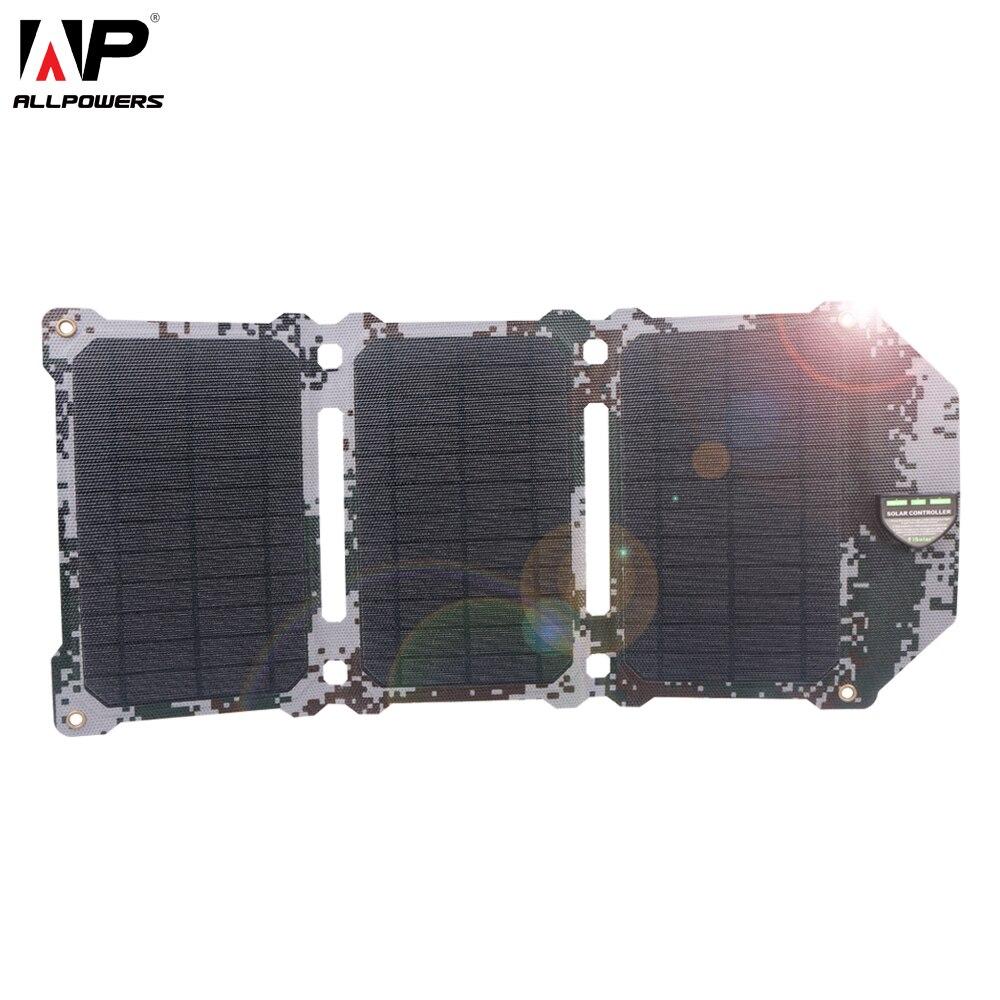 ALLPOWERS Novos 21 W Baterias de Células Solares Painel Solar Dual USB Carregador Solar de Carregamento Do Telefone para Sony Telefone iPad