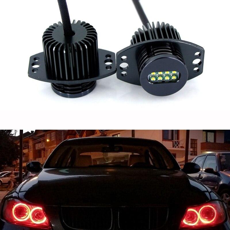 2PCS 40W White 6000K LED Angel Eye Halo Ring Marker Light Bulb Canbus Error Free For BMW E90 E91 3 Series 325i 328i 335i 05-08