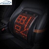 KKYSYELVA Mesh Lumbar Support For Office Home Chair Car Seat Massage Back Supports Waist Pillow Cushion