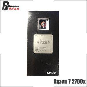 Image 2 - AMD Ryzen 7 2700X R7 2700X 3.7 GHz שמונה ליבות שש עשרה חוט מעבד מעבד L3 = 16M 105W YD270XBGM88AF שקע AM4 חדש עם מאוורר