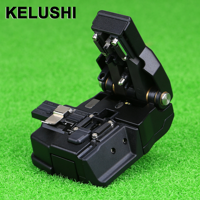 KELUSHI Fiber Optic Cutter Tool Cutting Knife High Precision Optical Fiber Cleaver for Single Mode Fiber.HS-30 used with Splice