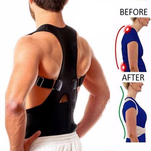 Posture Corrector Support Magnetic Therapy Back Shoulder Brace Belt Adjustable