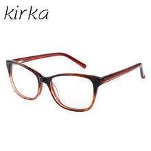 Kirka Fashion Reading Eyeglasses Optical Glasses Frames Glasses Women New Cat Eye Frame Ultra Light Frame Clear Glasses Square