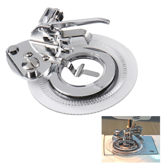 Decorative Round Flower Stitch Sewing Machine Presser Embroidery Foot Feet for Brother Singer Feiyue Domestic Machine Accessory