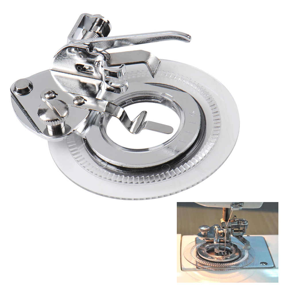 Prensatela decorativa redonda para máquina de coser, pie bordado para cantante Feiyue, accesorio de la máquina doméstica