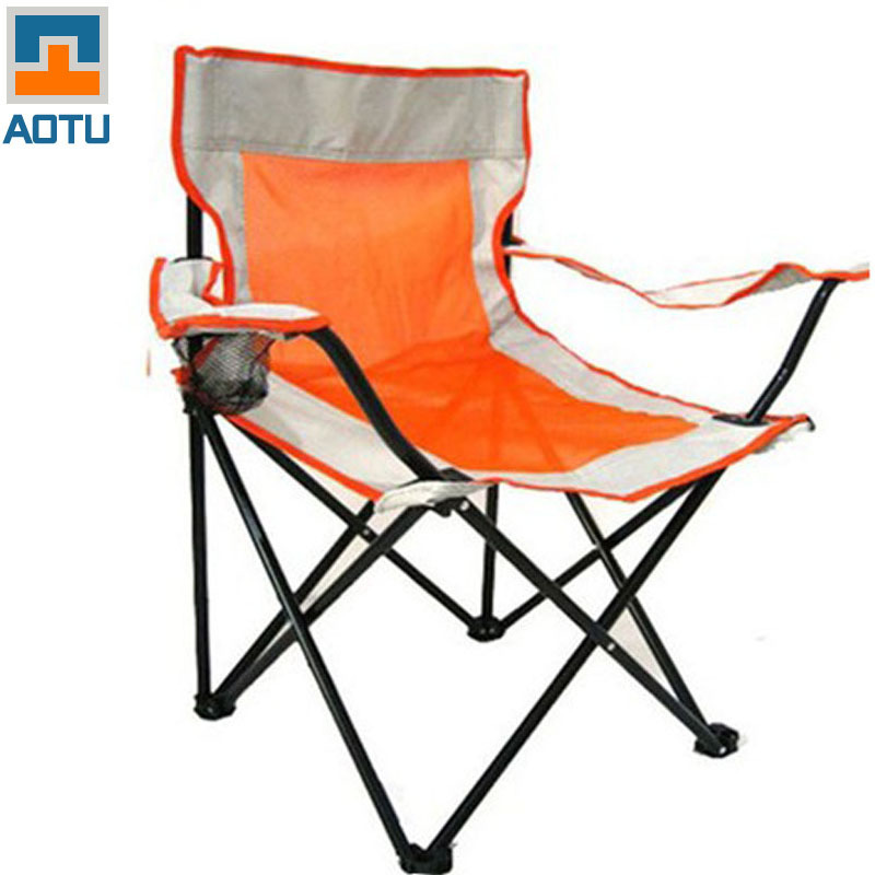 Lightweight Camping Folding Large Thick Gauze Folding Chair Armrest Beach Outdoor Chair For Fishing Portable AT6704 adjustable bamboo beach sling chair cavan seat home indoor outdoor furniture beach folding chair modern portable camping chair