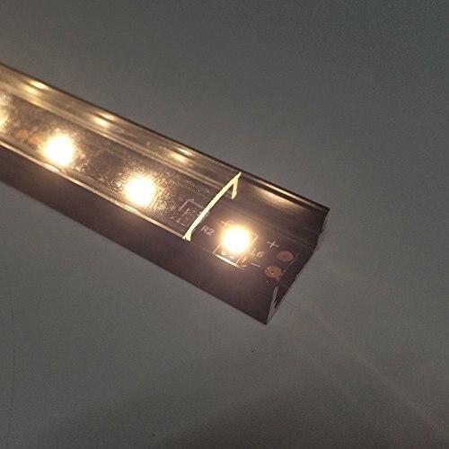3.3Ft / 1M 10 Paket Açıq LED Alüminium Profili U Shape 12mm - LED işıqlandırma - Fotoqrafiya 5