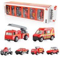 Coolplay 6Pcs/Set Mini Alloy engineering Car Tractor Toy Dump Truck Model Classic Toy Mini Gift For Boy
