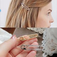 Hot Sale 1pc Enkelt Exquisite Golden Silvery Metal Hair Clip Bridesmaid Hairpin Tillbehör för kvinnor tjejer