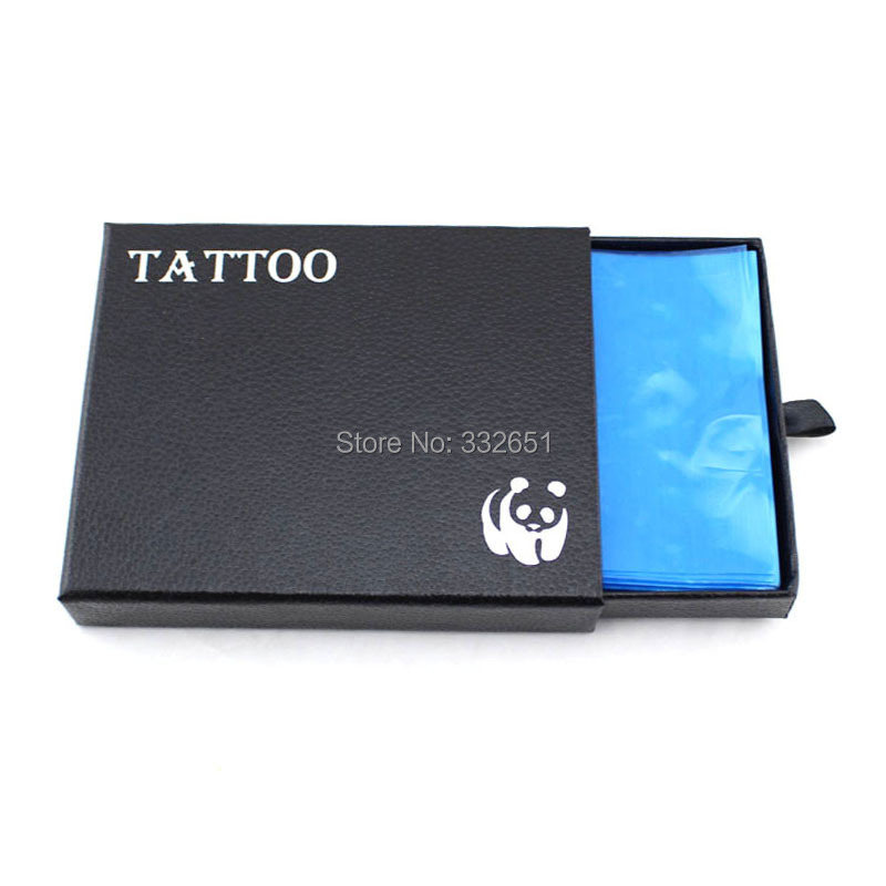 Chuse 200PCS/box Safety Disposable Hygiene Plastic Clear Blue Tattoo Machine Cover Bags Supply Microblading tattooing TATTOO