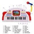 Aprendizaje y Educación niños Juguetes Aficiones Bebé infante Teclado de La Música de La Primera Infancia Educativos Juguete Divertido Niñas niños Regalos