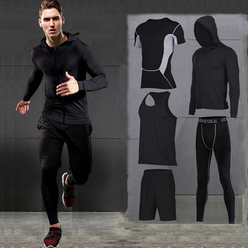 Quick Dry Men's Running Suits Compression Jogging Sports Set