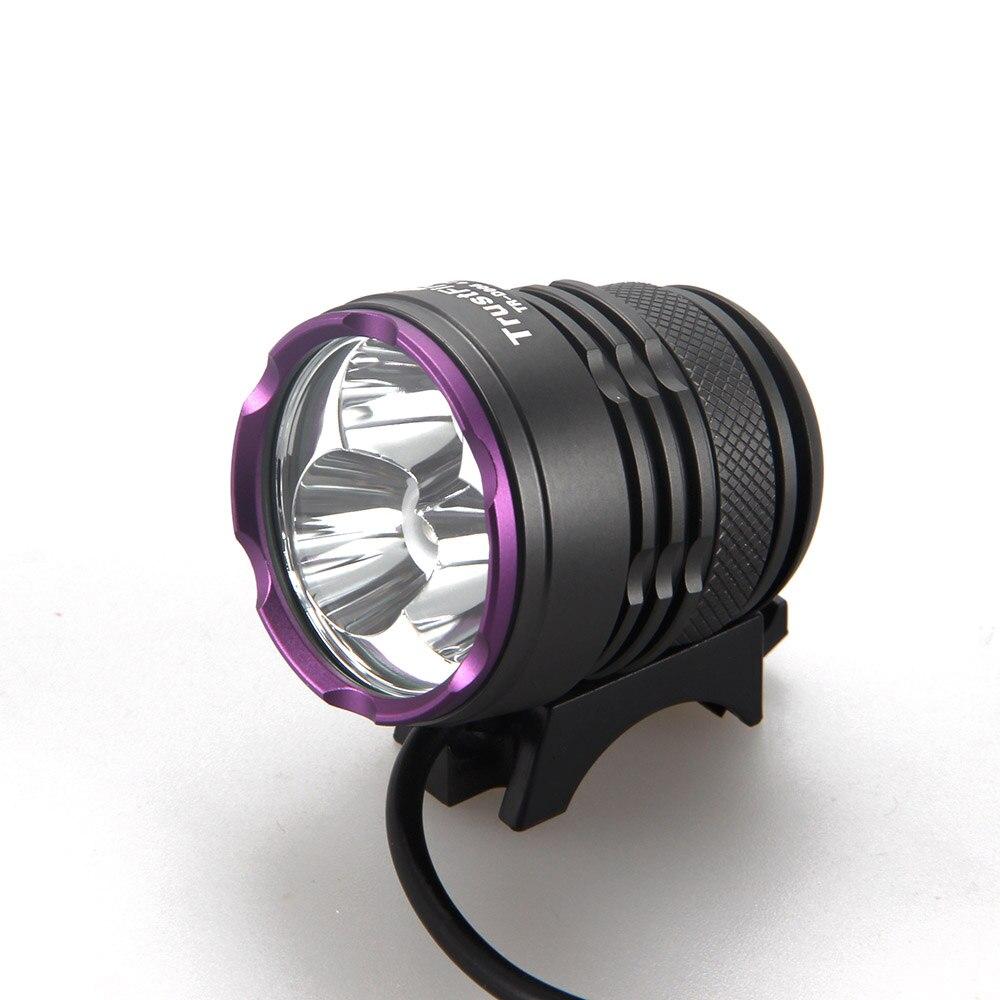 1500 Lumen 3x XM-L2 LED TrustFire Rechargerable Head Front Bicycle Bike light Headlamp & Adjustable Headband
