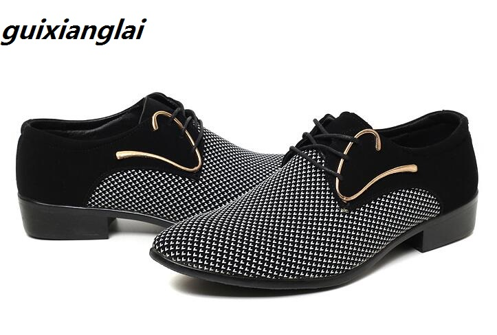 Men's Shoes Shoes New Mens Leather Shoes Large Size Korean Version Of The Pointed Male Shoes Business Dress Casual Shoes
