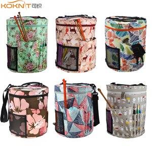 Image 1 - KOKNIT 14 Styles Knitting Bag Yarn Organizer Bag For Wool Crochet Hooks Knitting Needles Sewing Set DIY Yarn Balls Storage Bag