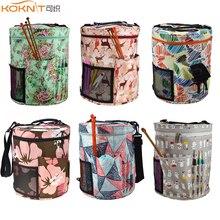 KOKNIT bolsa organizadora de hilo para tejer, 14 estilos, bolsa organizadora para lana, ganchillo, ganchillo, agujas, juego de costura, bricolaje, bolas de hilo, bolsa de almacenamiento