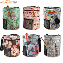 Koknit 14 estilos saco de tricô fio organizador saco para lã crochê ganchos agulhas de tricô costura conjunto diy fio bolas saco de armazenamento