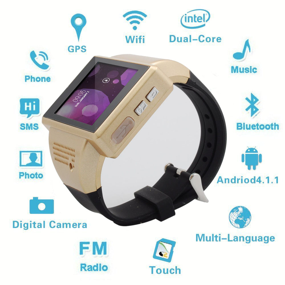 Android Smart Watch Mobile Phone Bluetooth 2.0'' Screen 2.0 MP WiFi GPS for Samsung Galaxy S8 S7 S7 edge S6 S6 edge S5 Note 5 4 все цены
